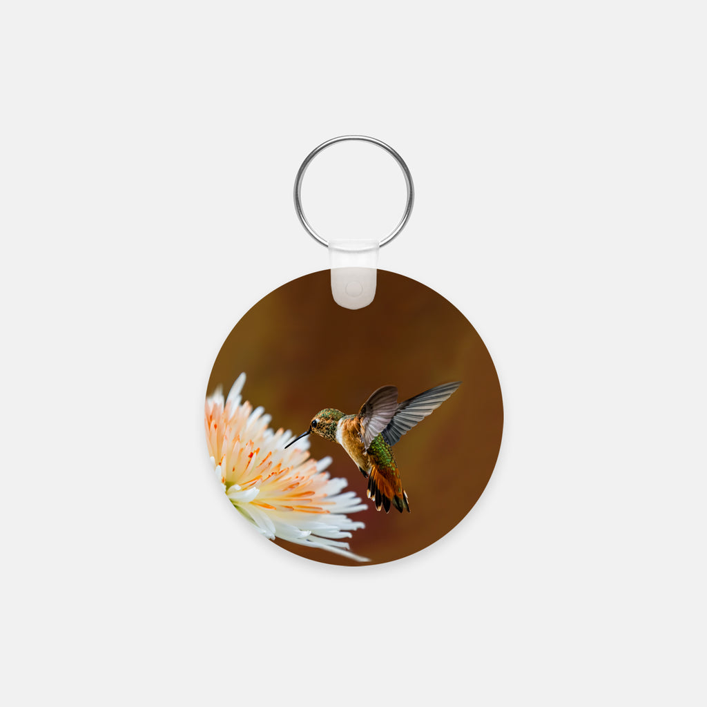 Dreamsicle photograph printed on a round key chain.