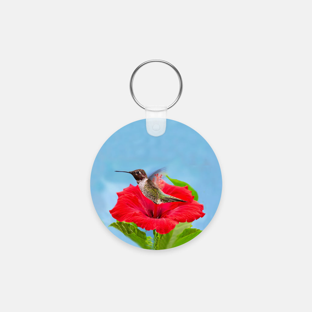 Fairy Wings photograph printed on a round key chain.