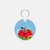 Image of Fairy Wings photograph printed on a round key chain.