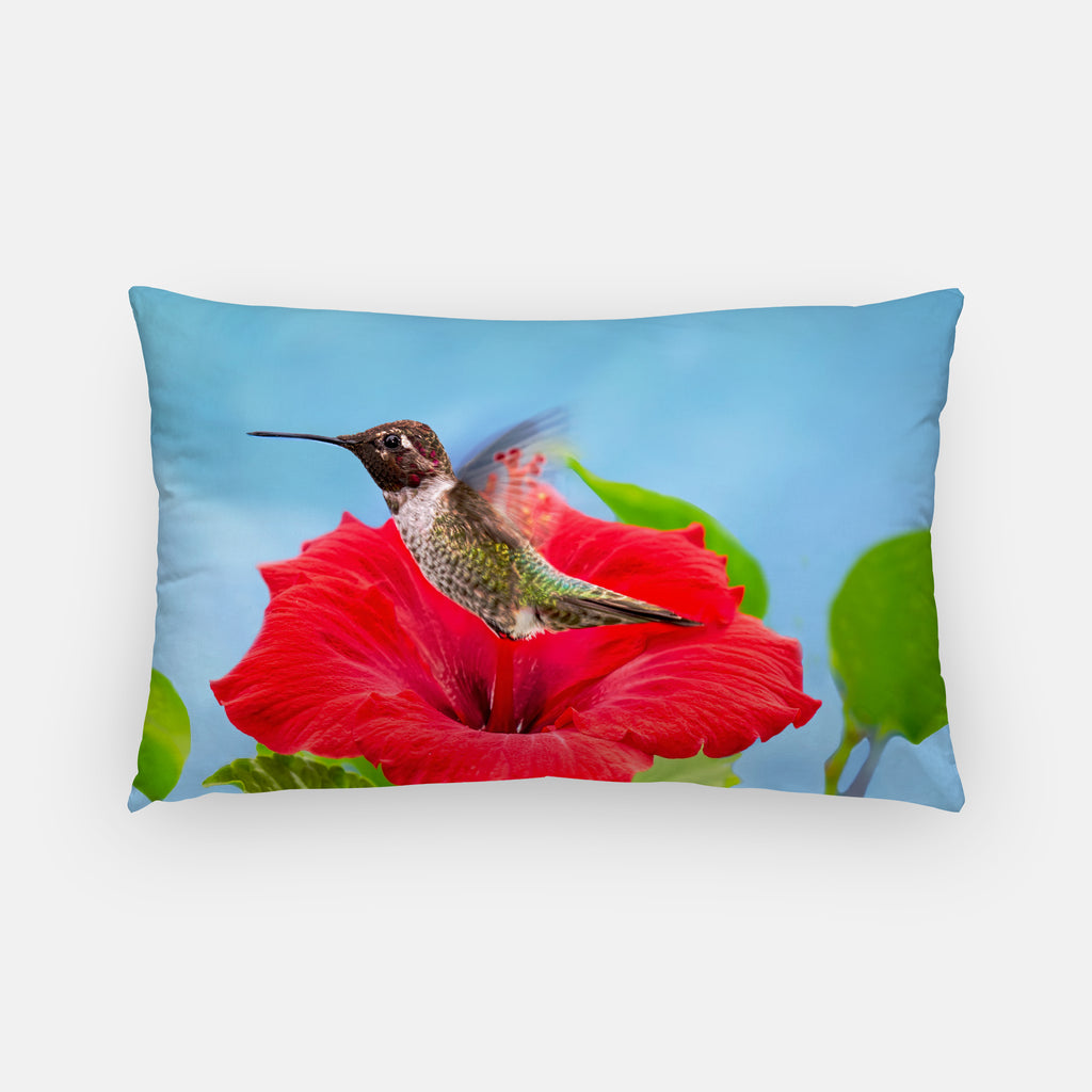 Fairy Wings photograph printed on a lumbar pillow.