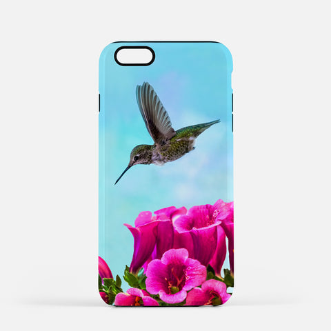 Feathered Throat photograph on an iPhone 7 Plus phone cover.