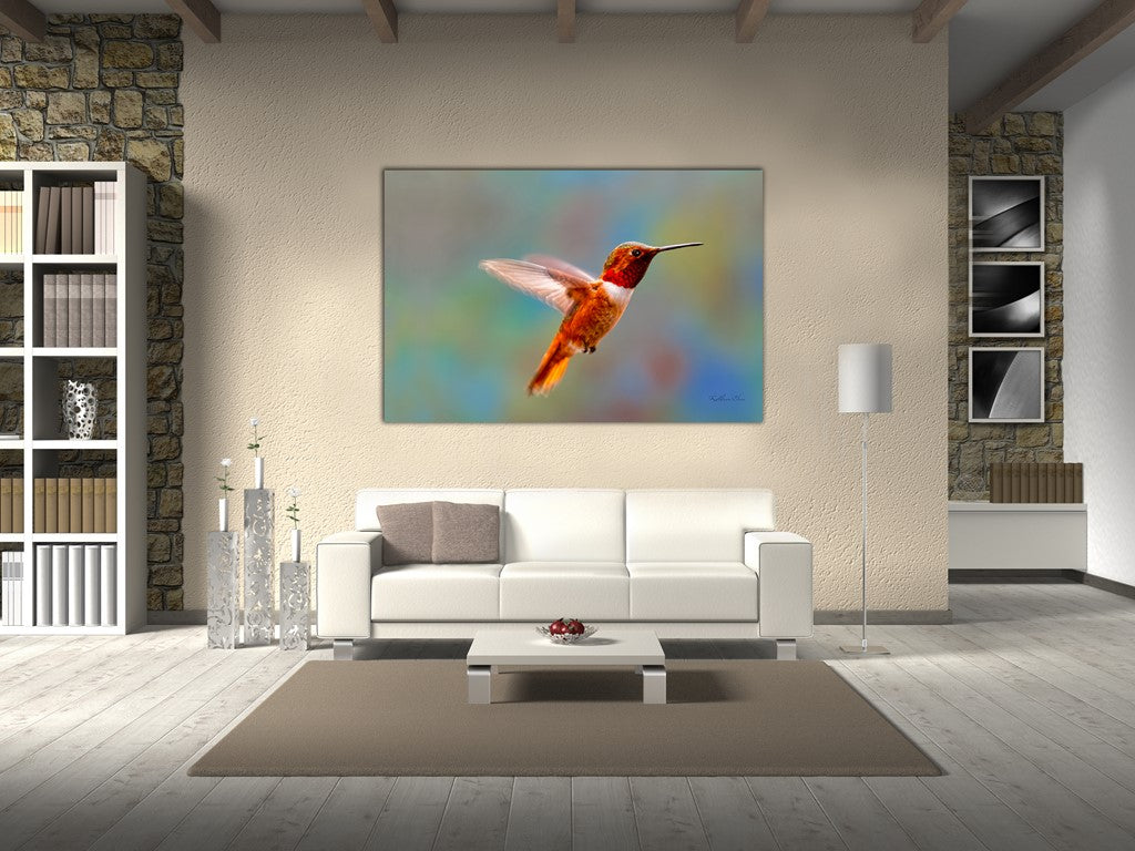 Picture of Flying Jewel hanging in a room.
