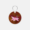 Image of Gorgeous Redhead photograph printed on a round key chain.