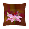 "Image of Gorgeous Redhead hummingbird photograph on a 16"" square pillow."