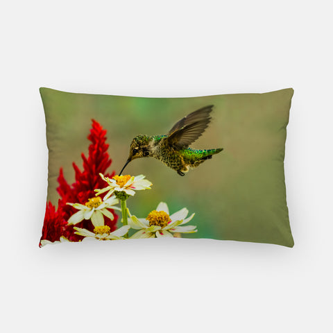 Green Goddess photograph printed on a lumbar pillow.