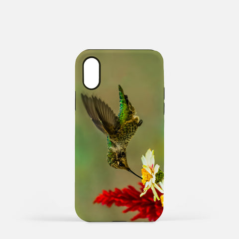 Green Goddess photograph printed on an iPhone X case.
