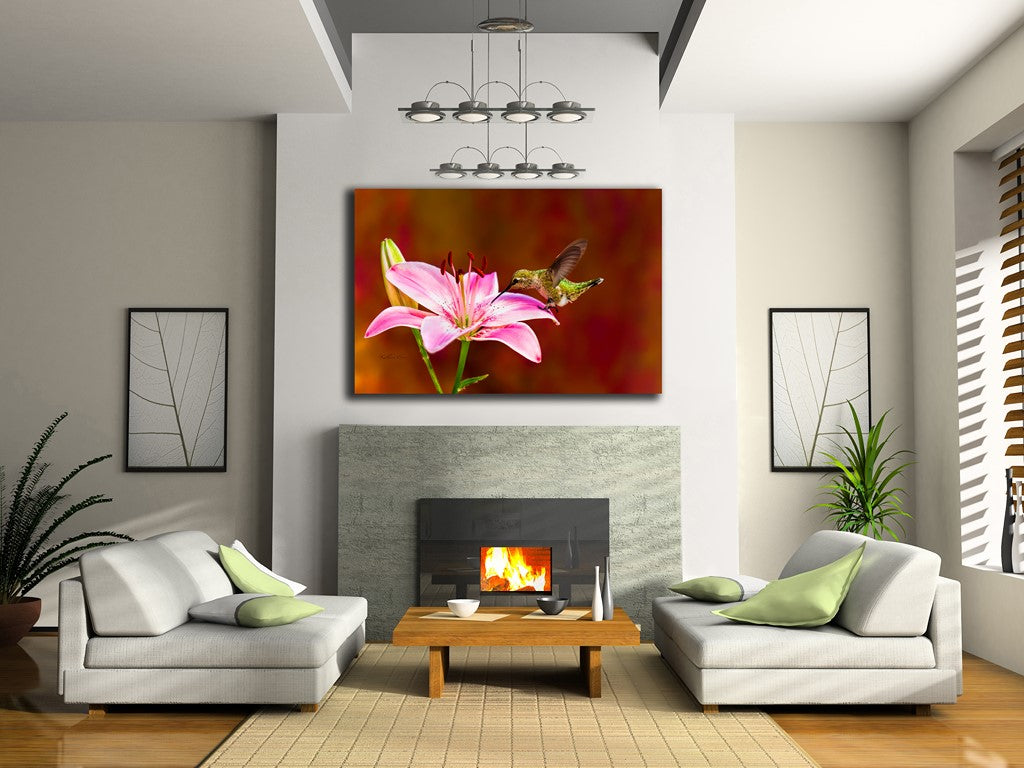 Picture of Lily Pad hanging in a room.