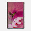 Image of Orchid Attraction 2 printed on a woven blanket.