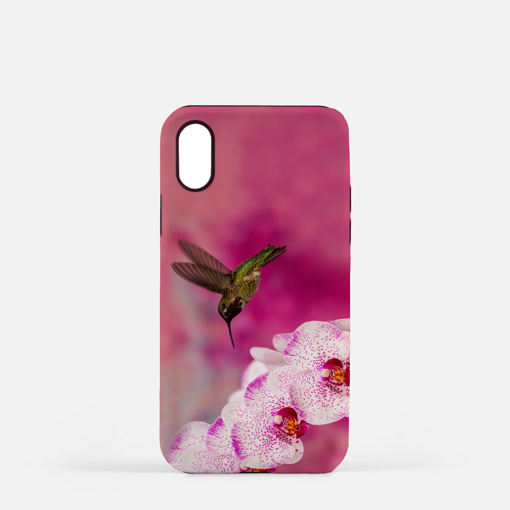Orchid Attraction 2 photograph printed on an iPhone X case.