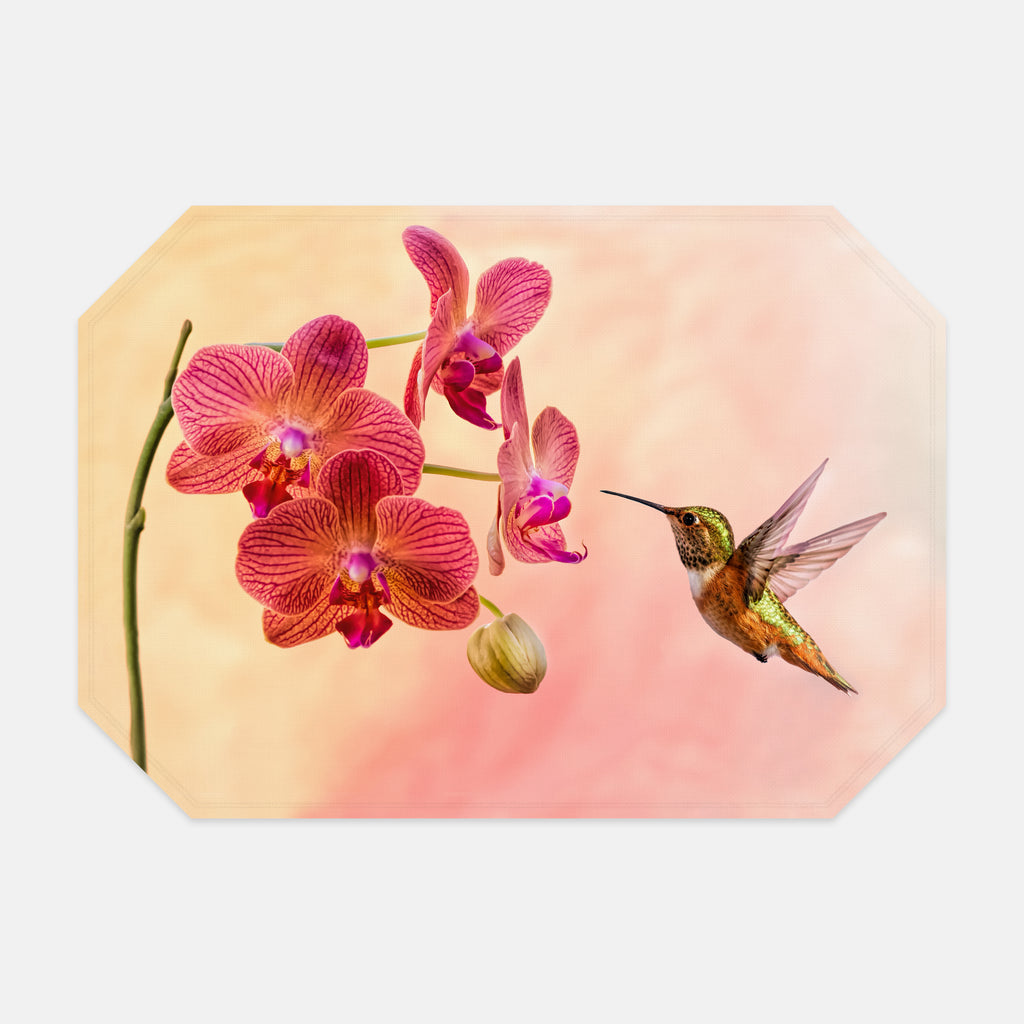 Orchid Attraction 4 photograph printed on a place mat.