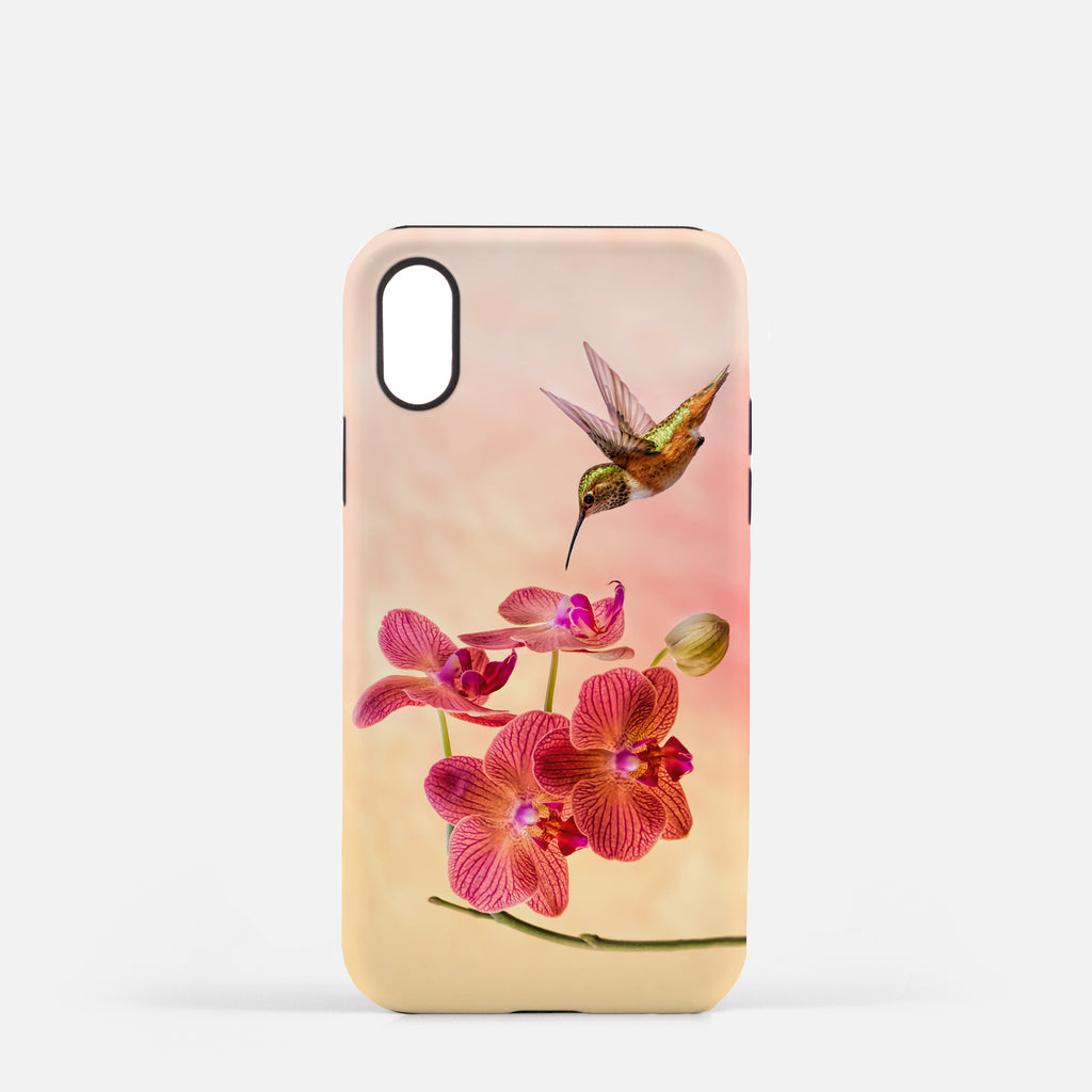 Orchid Attraction 4 photograph printed on an iPhone X case.