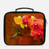 Image of Orchid Attraction photograph printed on a lunch box.