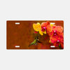Image of Orchid Attraction photograph printed on a license plate.