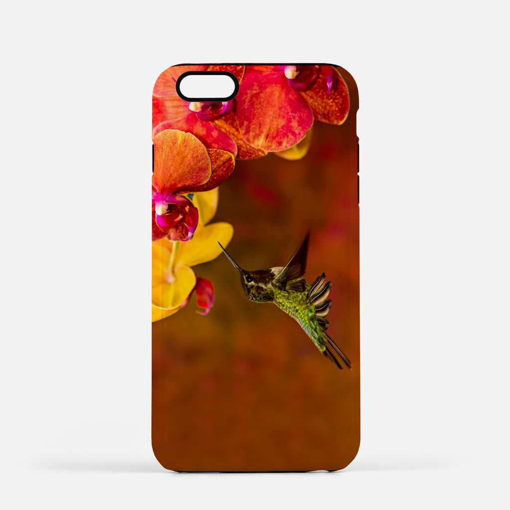 Orchid Attraction photograph on an iPhone 8 Plus phone cover.