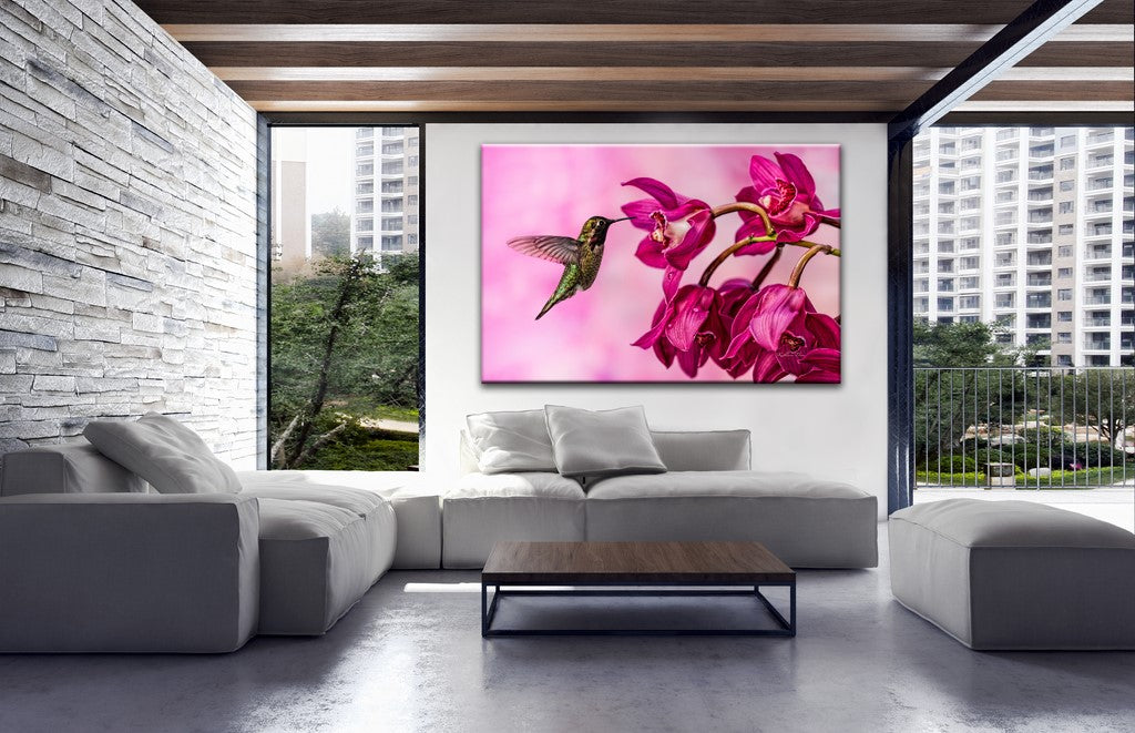 Picture of Orchid Delight hanging in a room.