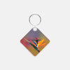 Image of Gorgeous Redhead photograph printed on a square key chain.