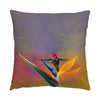 "Image of Paradise Found hummingbird photograph on a 20"" square pillow."