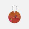 Image of Secret Garden photograph printed on a round key chain.