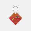 Image of Secret Garden photograph printed on a square key chain.