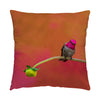 "Image of Secret Garden hummingbird photograph on a 20"" square pillow."