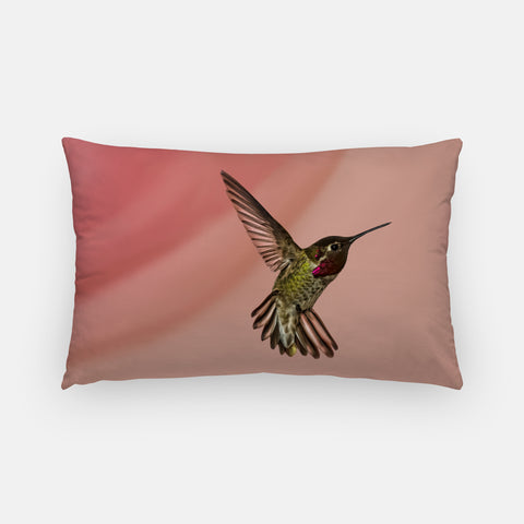 Showoff photograph printed on a lumbar pillow.