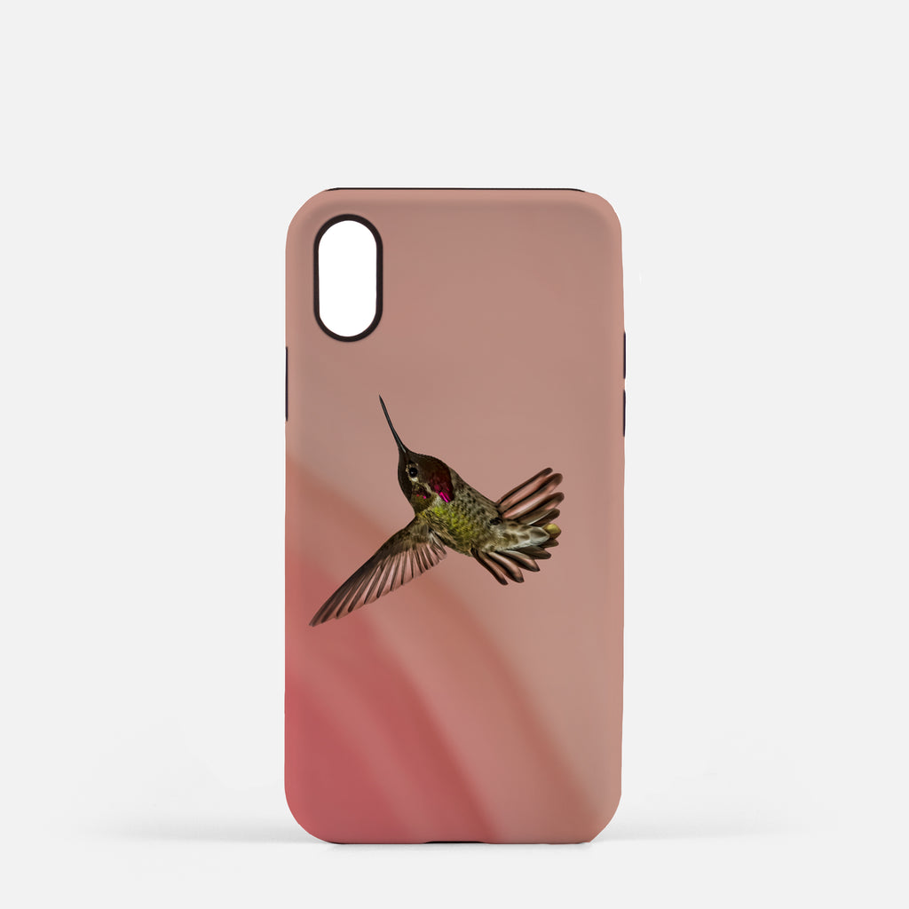Showoff photograph printed on an iPhone X case.