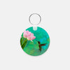 Image of Time To Taste The Tulips photograph printed on a round key chain.