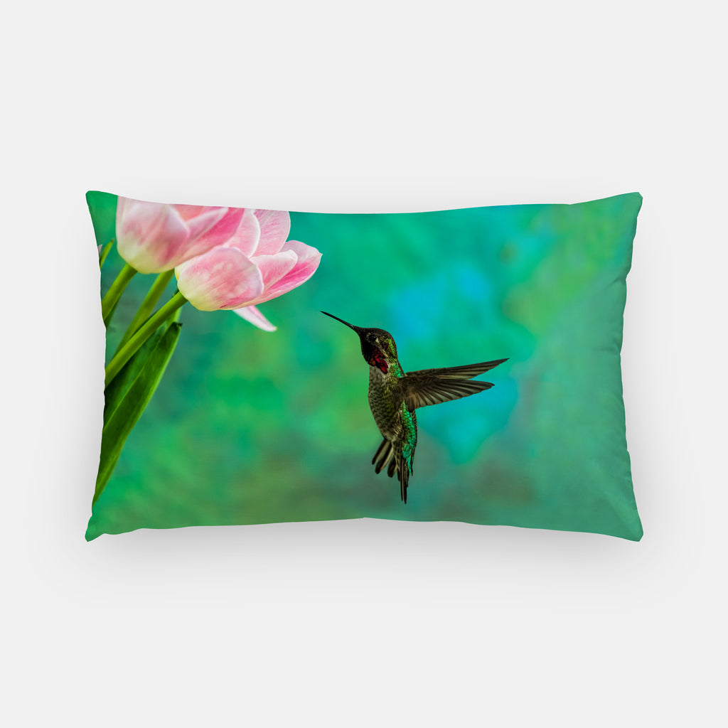 Time To Taste The Tulips photograph printed on a lumbar pillow.