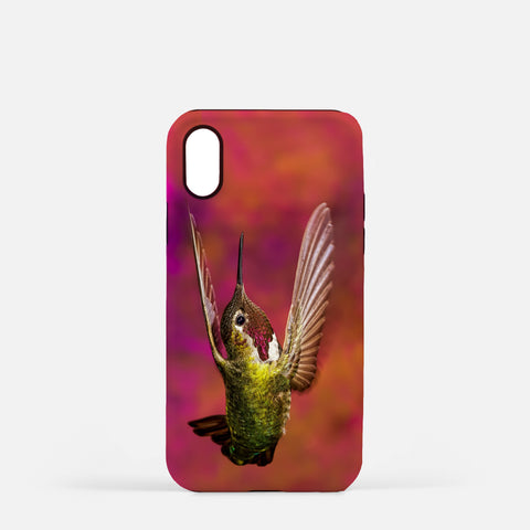 Touchdown photograph printed on an iPhone X case.