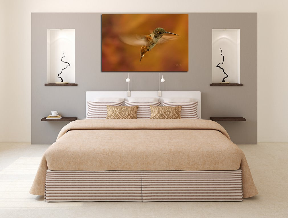 Picture of Whirly Bird hanging in a room.
