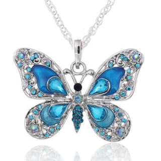 Butterfly Sapphire Blue Necklace