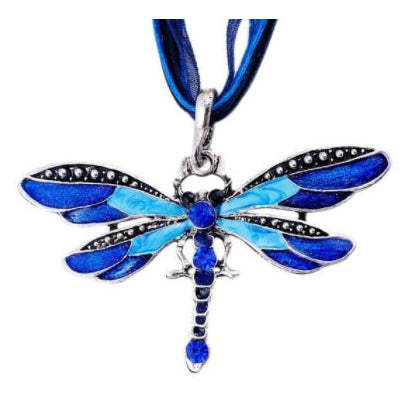 Dragonfly Sapphire Blue Necklace