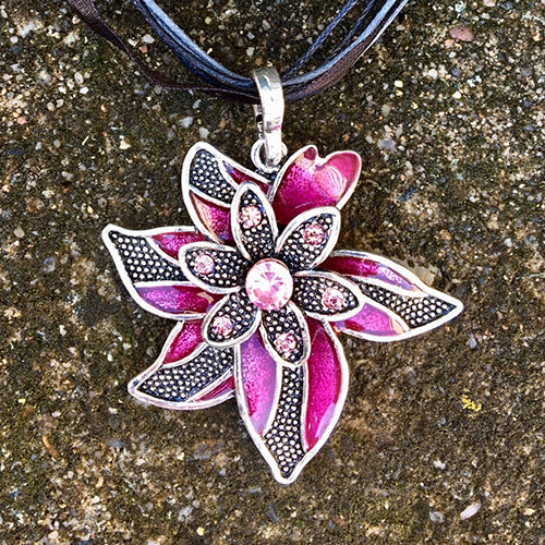 Flower / Magenta / Enchanted Forest / Necklace