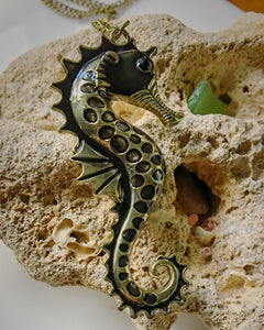 Bronze Seahorse / Necklace / Songs of the Sea