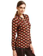 Annabel Red Long Sleeve Shirt