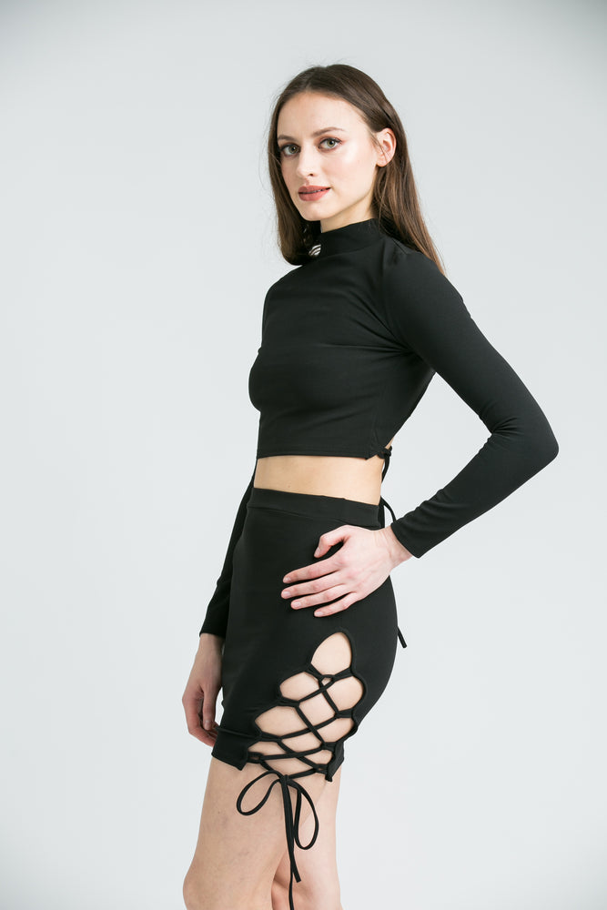 Natalia Black Co-ord Set