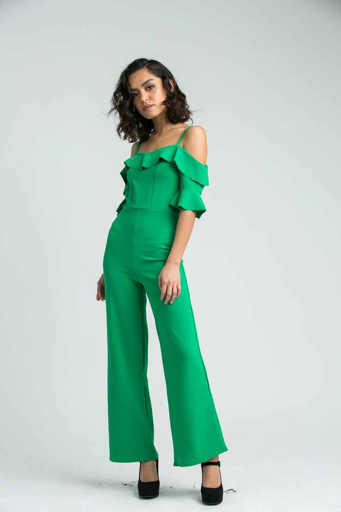 Cara Green Jumpsuit