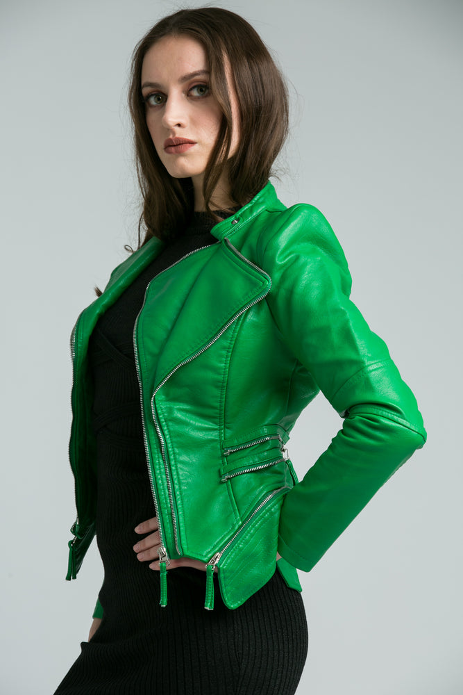Khloe Green  Biker Jacket