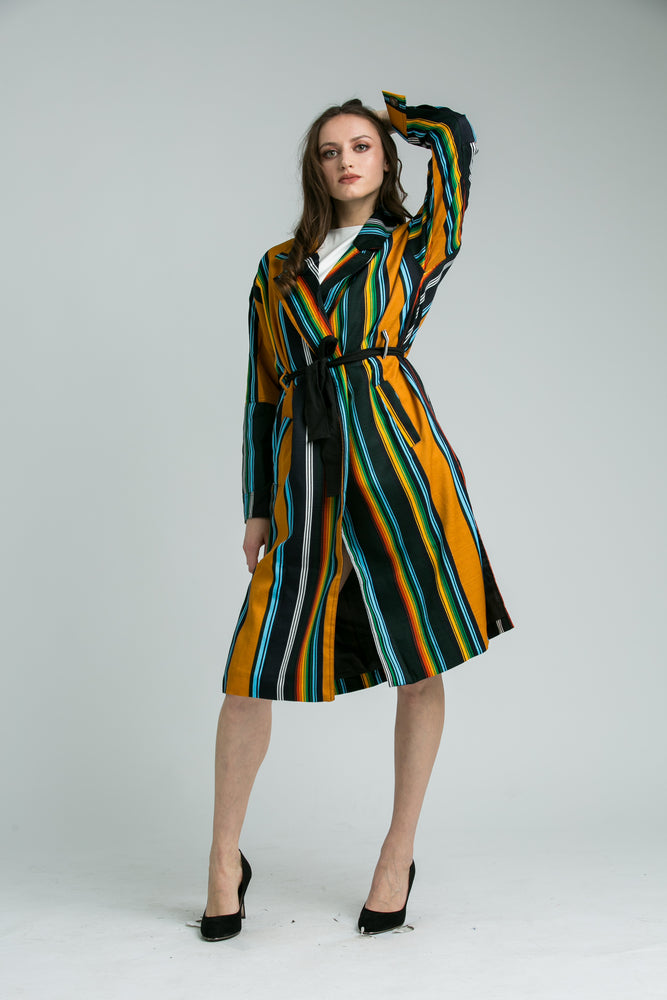 Julie Stripey coat