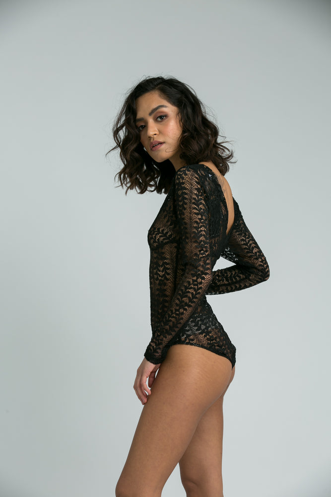 Sasha Black Lace Body Suit