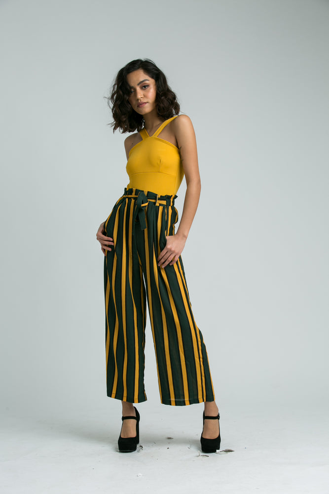 Kathy Bold Green and Mustard Trousers