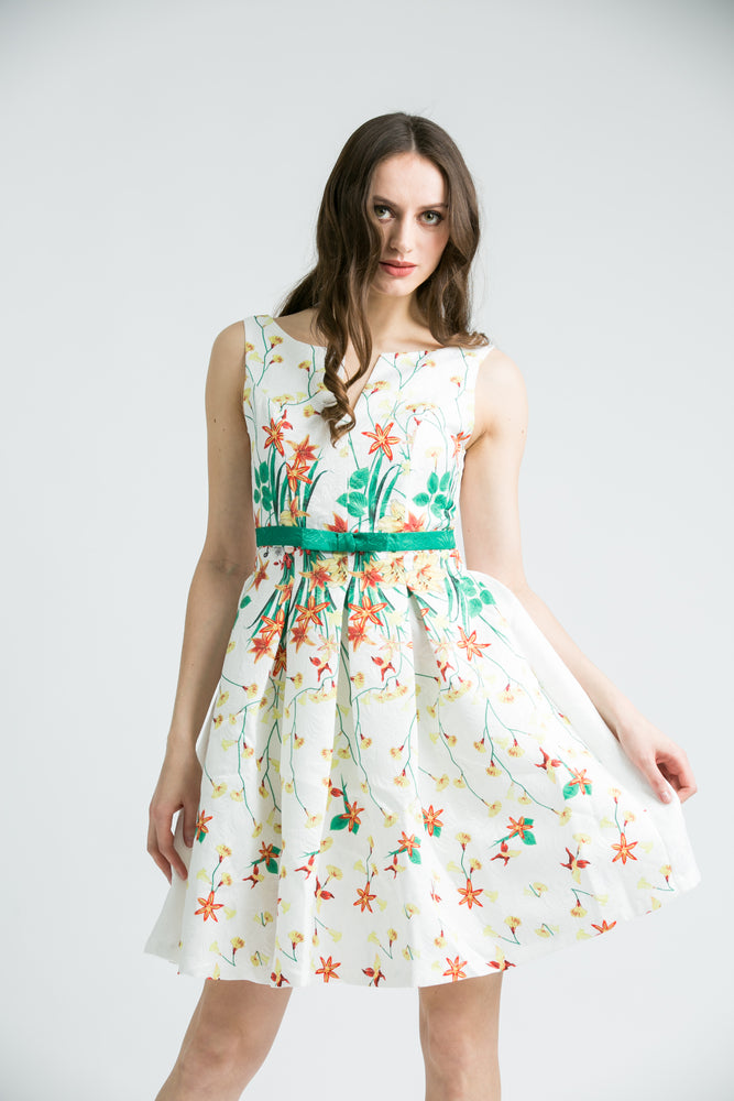 Freya White Floral Dress