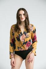 Zee Floral Gold Body suit