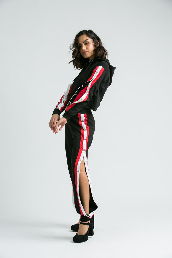 Maya Black, Red Stripe TrackSuit