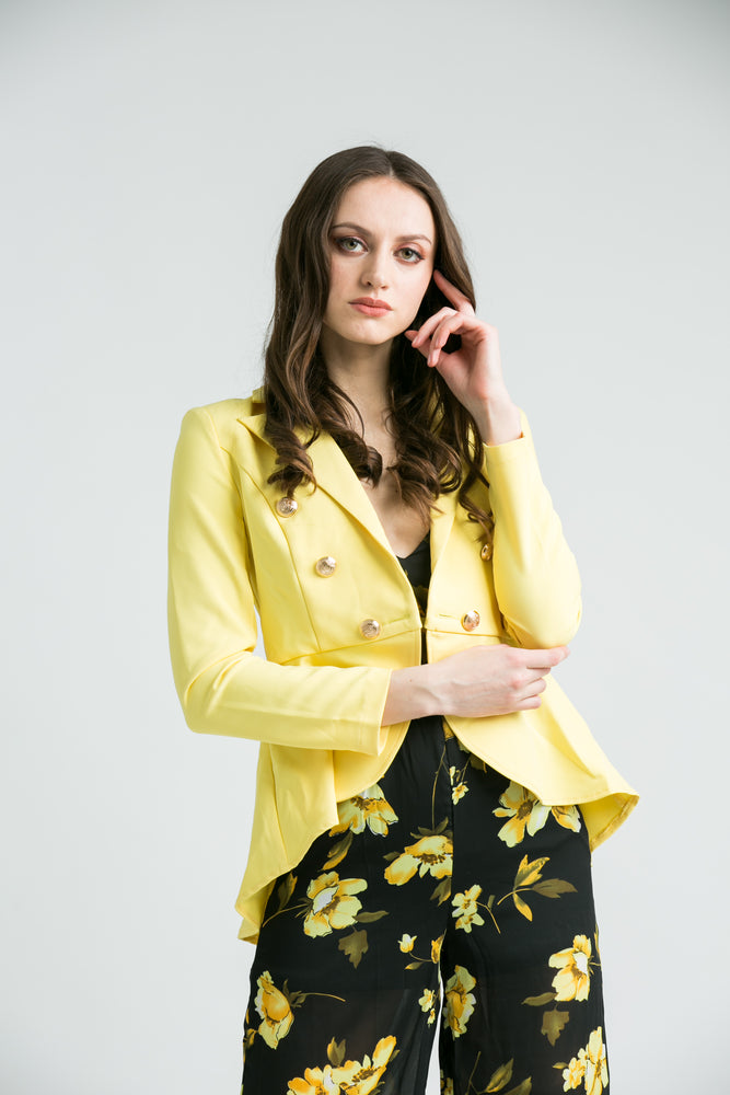 Carly Yellow Blazer