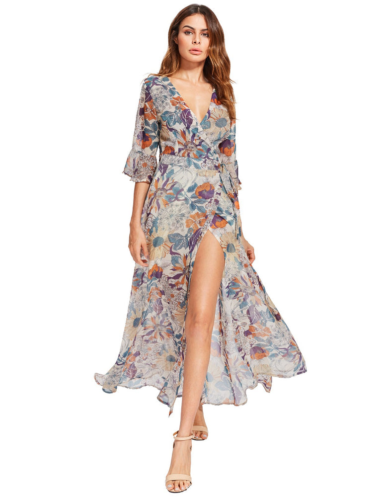 Fergie Nude Floral Dress