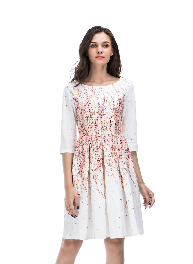Annie Floral white Dress