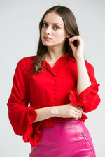 Willow Red Barbie Blouse
