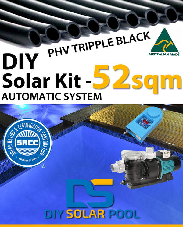 DIY Solar Pool Kit 52sqm - Automatic