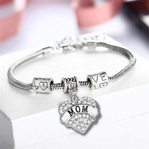 2017 fashion mother jewelry family mom daughter bracelet pendant